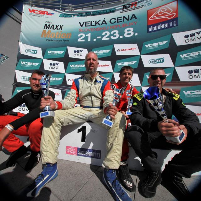 Slavi Dubrovnik Racing na Slovakia Ringu (Nikola Radnjić, Maro Franić, Mirko Pendo i Đivo Franić) foto: Tonči Vlašić