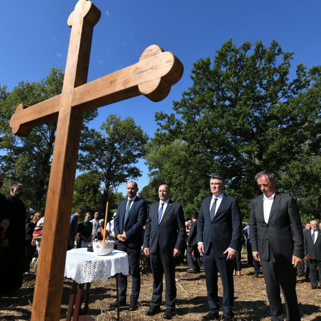 Boris Miloševic, Tomo Medved, Zoran Milanović, Milorad Pupovac u Plavnom<br />