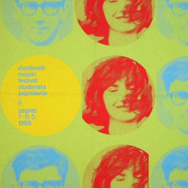 20. majski festival Jugoslavije, plakat 1966.
