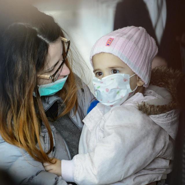 Slika iz 2019. kada je obitelj Rončević otputovala s malom Milom na liječenje u Ameriku