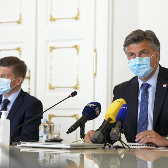 Ministar Marić i premijer Plenković
