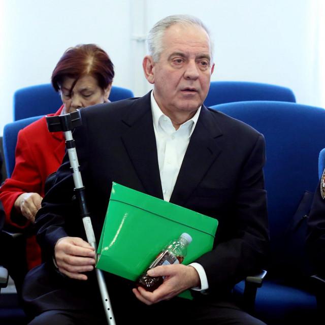 Ivo Sanader, snimljen u sudnici na jednom od dosadašnjih ročišta