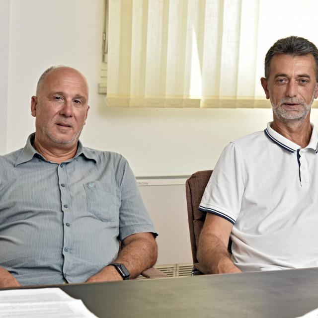 Dr. Dino Carić, voditelj Radiologije za županiju (lijevo), i dr. Marko Rađa, ravnatelj županijskog Doma zdravlja<br />