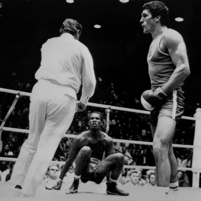 Mate Parlov i Kubanac Gilberto Carrillo na Olimpijskim igrama u Münchenu 1972.