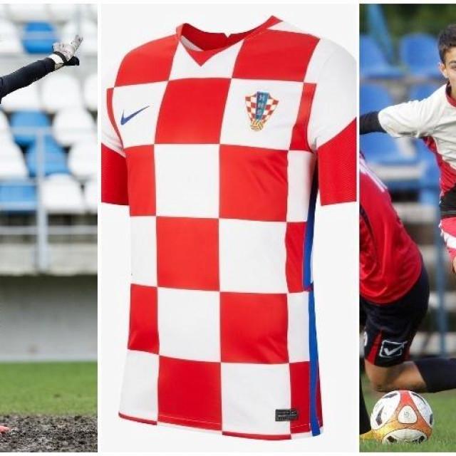 Karlo Sentić i Ante Oreč, dvojica Dubrovčana, članovi U19 reprezentacije Hrvatske (foto: hajduk.hr/Tonči Vlašić)
