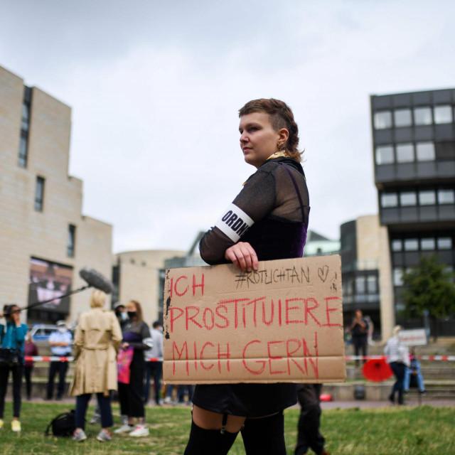 Prizor s nedavnog prosvjeda radnica i radnika u seks industriji održanom uDuesseldorfu