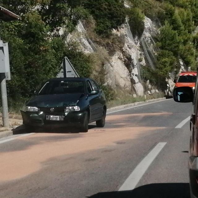 prometna nezgoda od Orsule prema Dupcu
