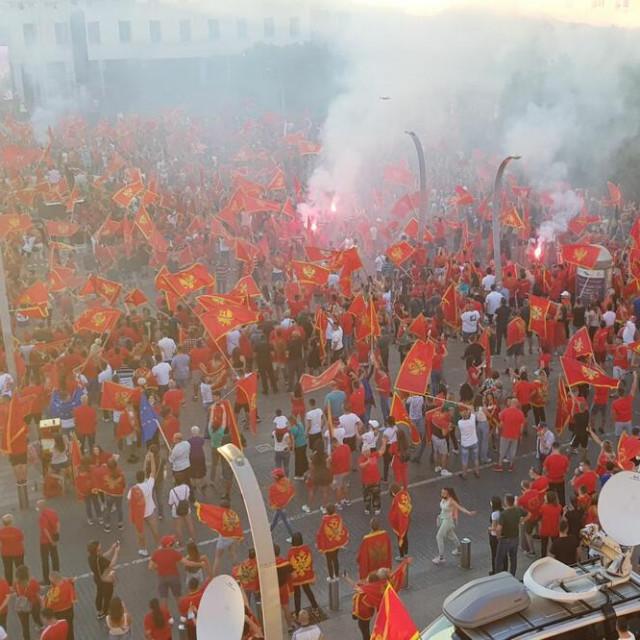 Veliki prosvjed u Podgorici