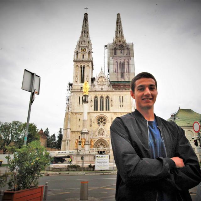 Ante Oreč, Dubrovčanin, nogometaš zagrebačke Lokomotive i reprezentativac Hrvatske do 19 godina foto: Tonči Vlašić