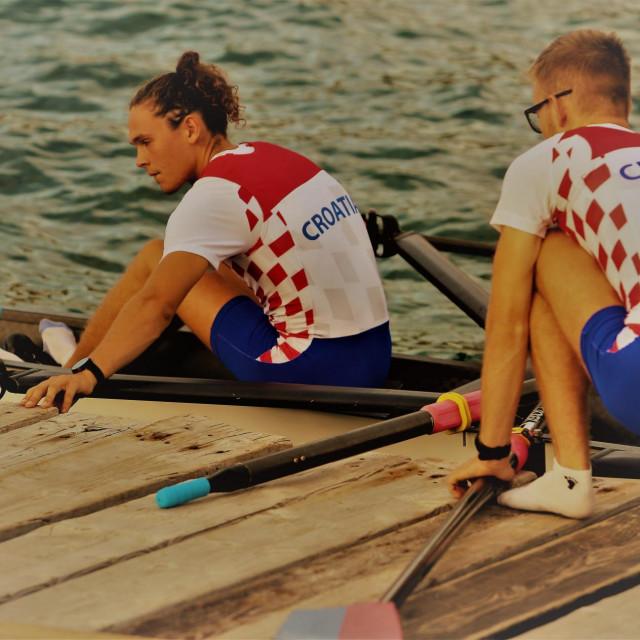 Toni Crnjak i Lovro Čondrić, Neptunovi reprezentativci foto: Tonči Vlašić