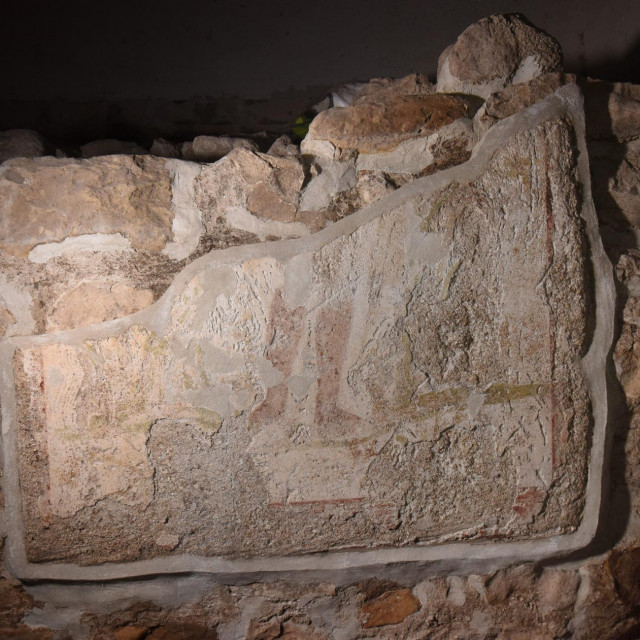Deni Mišlov kraj pronađene freske
