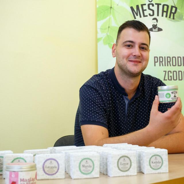 Mario Goreta iz tvrtke Spartium koja proizvodi prirodnu kozmetiku.<br />