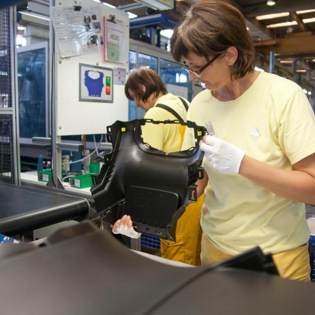Pogon 'AD Plastika' u Solinu koji radi dijelove za autoindustriju.<br />