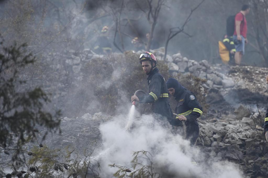 Vatrogasci su imali pune ruke posla dok vatra nije stavljena pod kontrolu