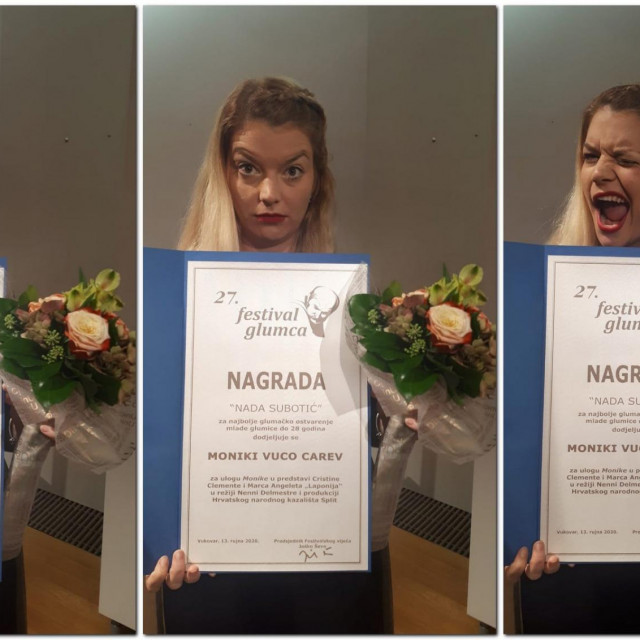 Anamarija Veselčić nagrađena je za nastup u predstavi 'Domaši', čija je autorica i redateljica<br />