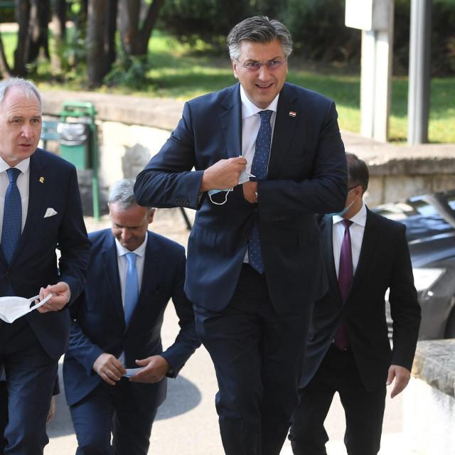 Premijer Andrej Plenković i splitski gradonačelnik, Andro Krstulović Opara