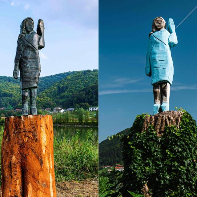 Brončana i spaljena drvena skulptura američke prve dame
