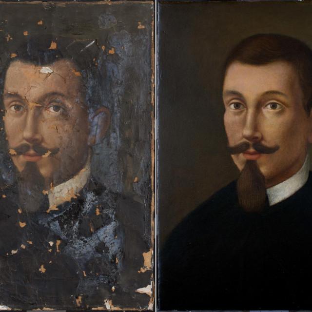 Restaurirani portret Marina Getaldića