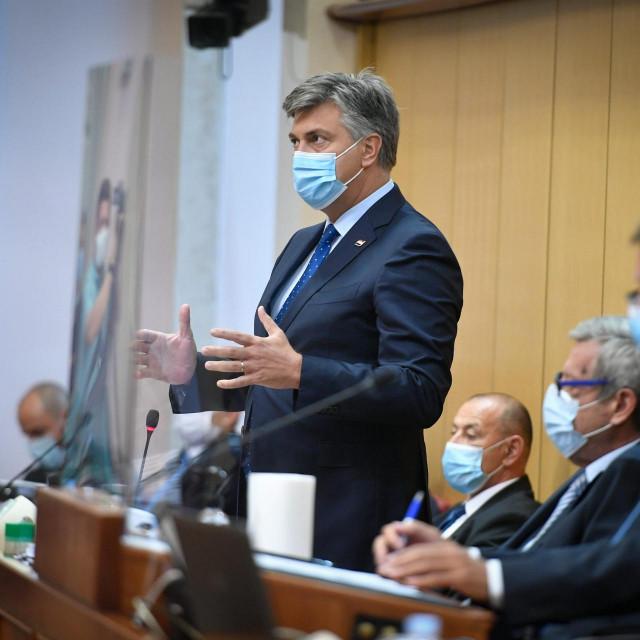 Andrej Plenković vrlo je odrješito odgovarao na napade u Saboru