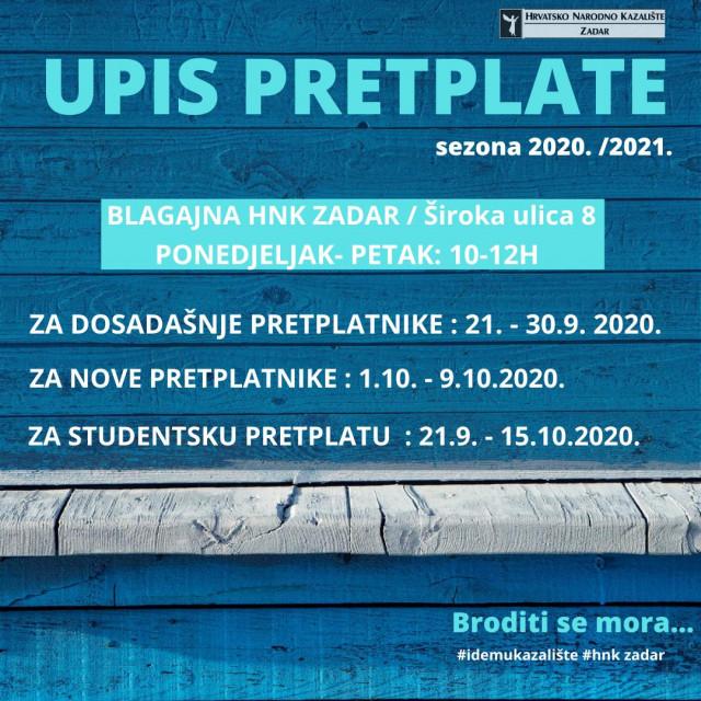 Počinje kazališna sezona u HNK Zadar