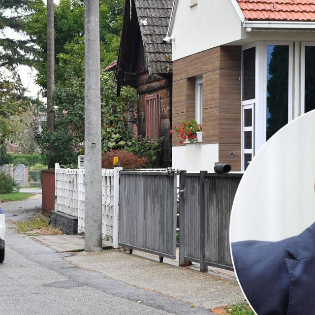 Dražen Barišić (u krugu), policija pred njegovom kućom