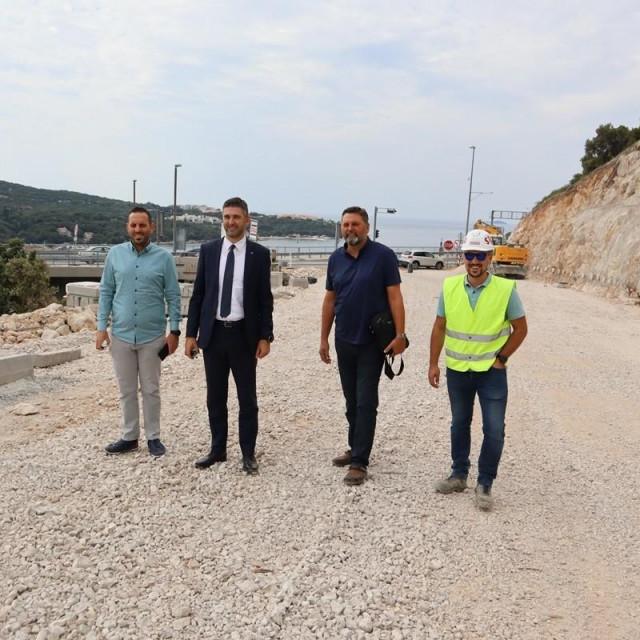 Franković obišao gradilište ceste od Mosta dr. Franja Tuđmana do Pobrežja