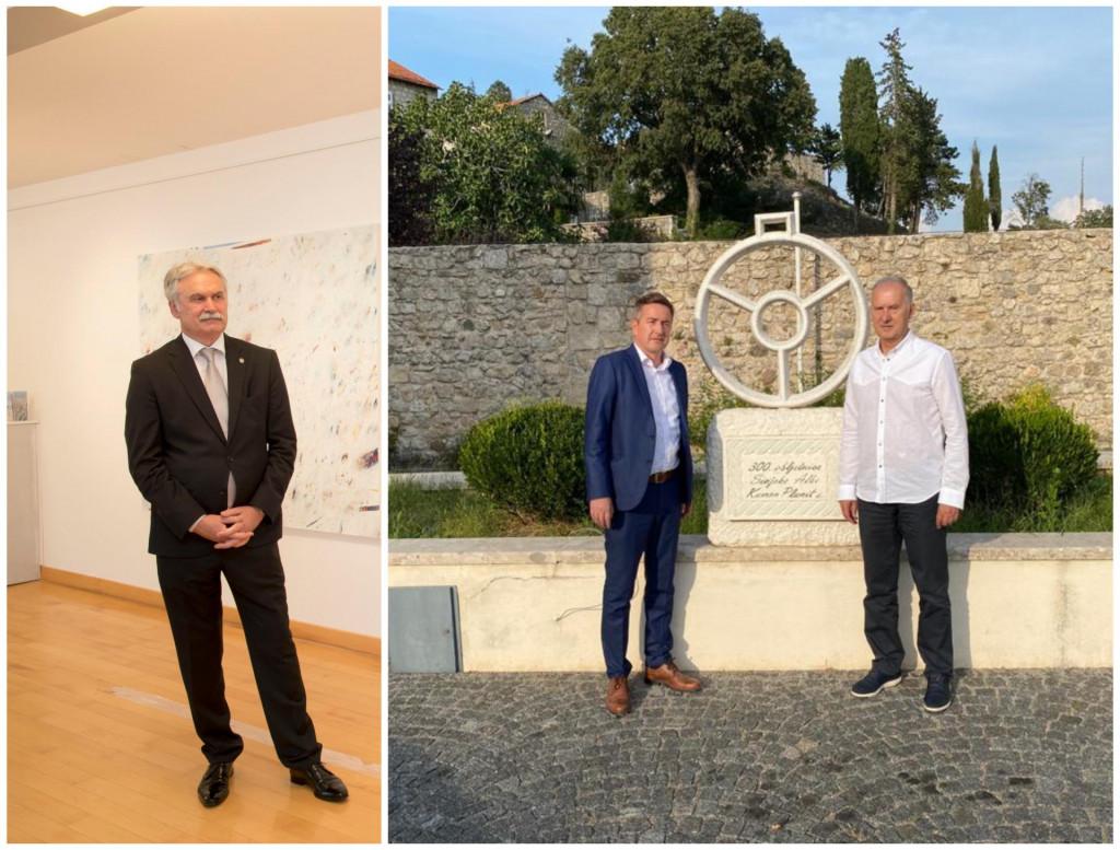 Rektor Dragan Ljutić, Filip Klarić-Kukuz i Stipe Jukić