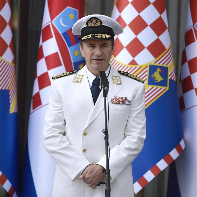 Načelnik Glavnog stožera Oružanih snaga RH admiral Robert Hranj