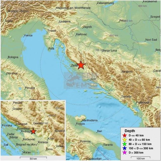 U nedjeljno popodne potres je uznemirio stanovnike Dalmacije