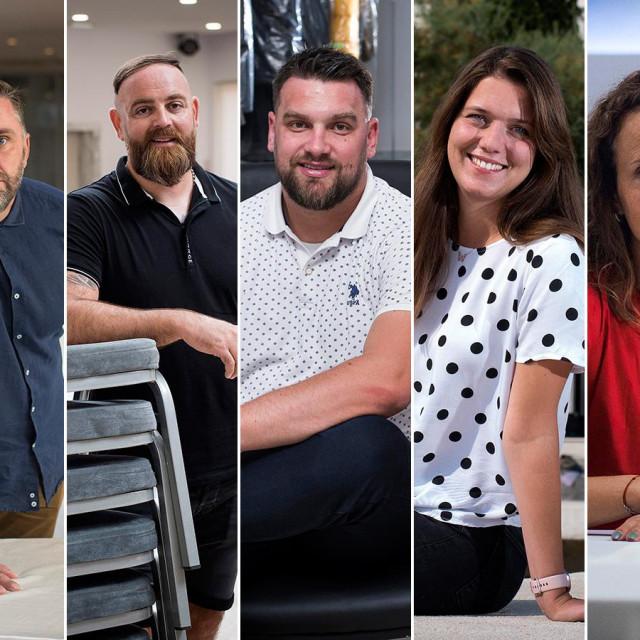 Dalmatinski poduzetnici: Marko Balić, Mario Blažević, Josip Pašalić, Katarina Kovačev i Katja Jonjić