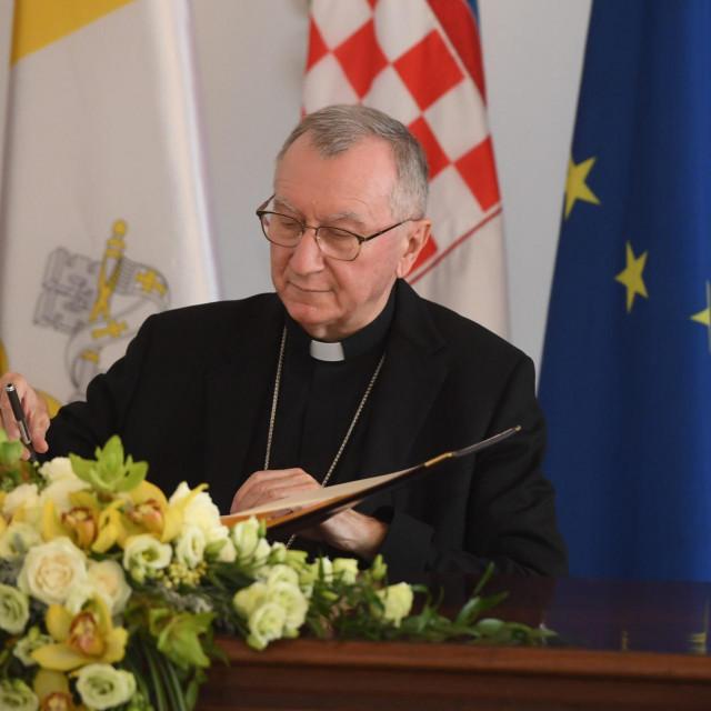 Split, 150920.<br /> Predsjednik Vlade Andrej Plenkovic na sastanku s drzavnim tajnikom Svete Stolice kardinalom Pietrom Parolinom.<br />