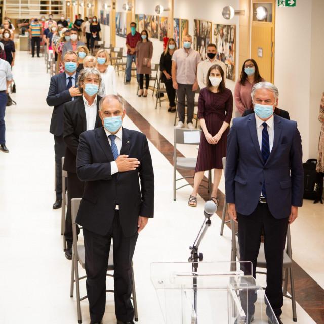 Profesor Josip Milat, župan Blaženo Boban i rektor Dragan Ljutić