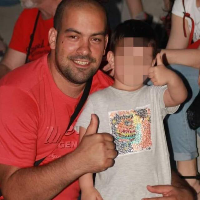 Boris Milinčić s petogodišnjjim sinom Bornom