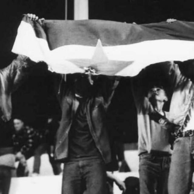 Skinuta zastava s jarbola na Poljudu