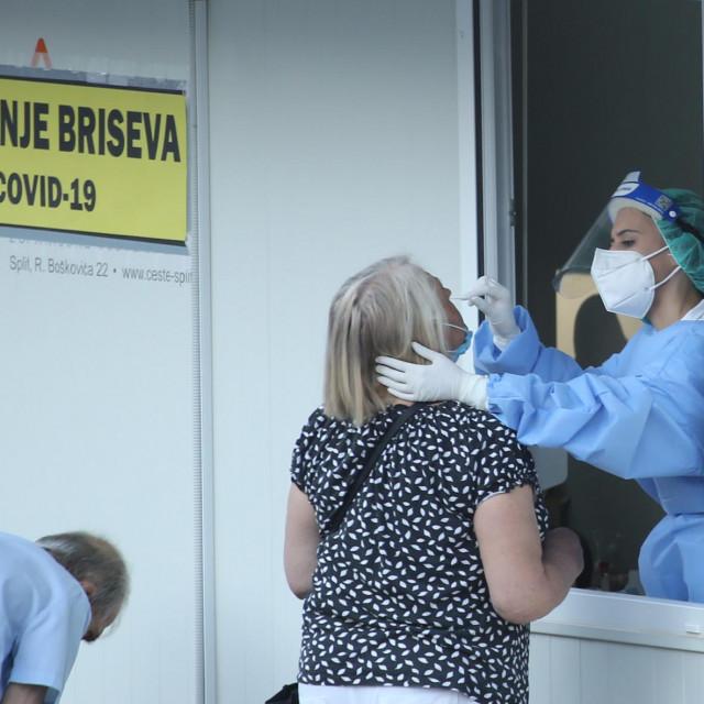 Testiranje na Covid-19 u bolnici na Križinama