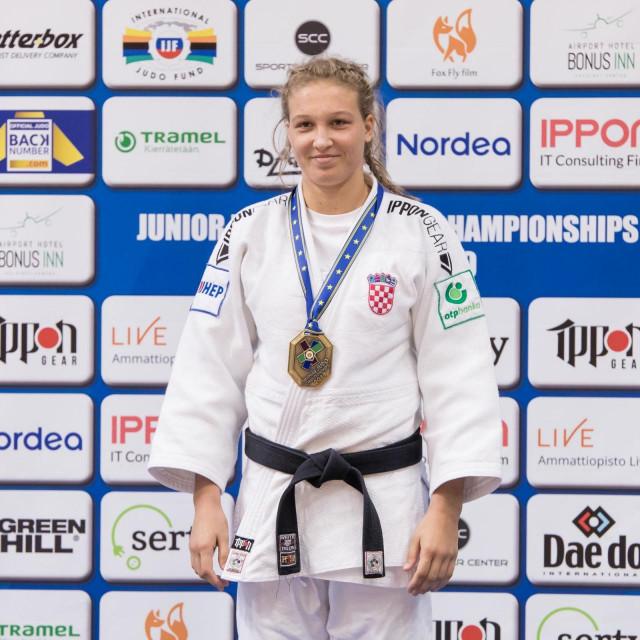 Petrunjela Pavić, brončana na juniorskom prvenstvu Europe, članica Judo klub Dubrovnik 1966.