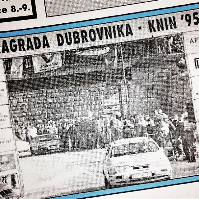 Naslovnica Dubrovačkog vjesnika, koji je bio 1995. jedan od medijskih pokrovitelja prvog sportskog događaja u oslobođenom Kninu