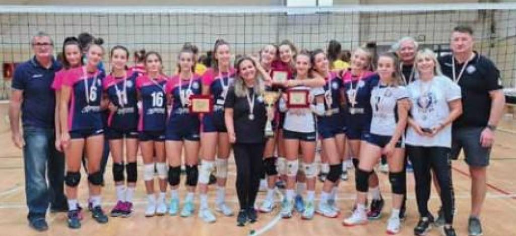 Mlade odbojkašice Splita, državne prvakinje u konkurenciji mlađih kadetkinja