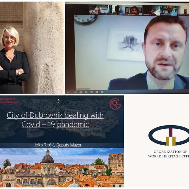Zamjenica Tepšić sudjelovala u webinaru Udruge gradova kulturne baštine