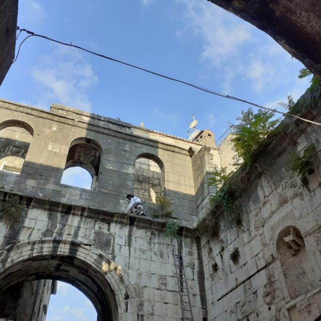 Zapadni ulaz u Dioklecijanovu palaču nagrizen je vegetacijom
