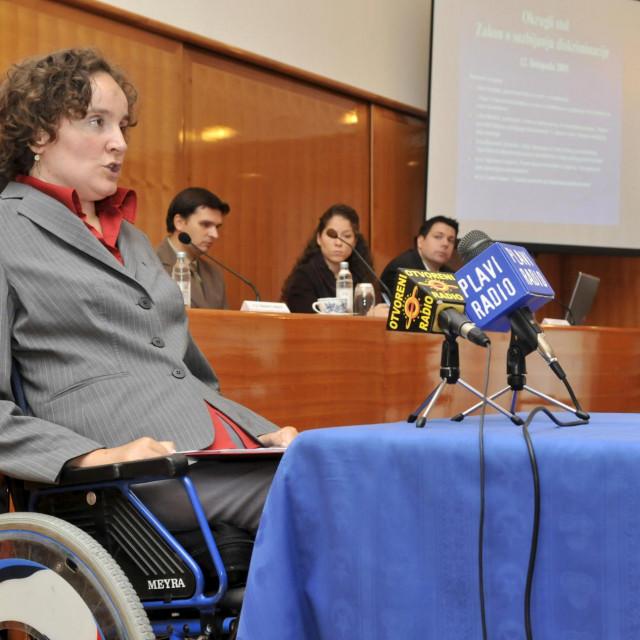 Na fotografiji je Anka Slonjsak, pravobraniteljica za osobe s invaliditetom.<br />