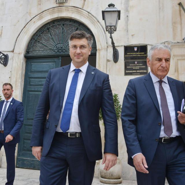 Premijer Andrej Plenković i župan Nikola Dobroslavić