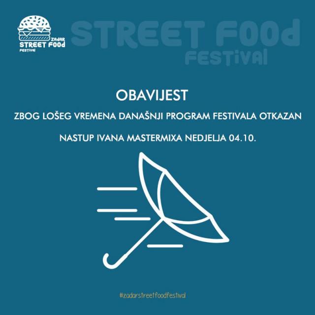 Festival je odgođen zbog jakog juga