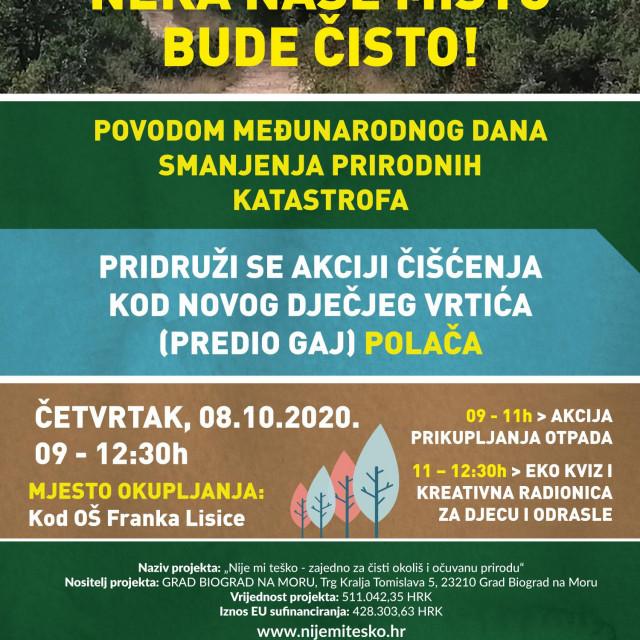 Akcija čišćenja i radionice za djecu povodom Međunarodnog dana smanjenja prirodnih katastrofa