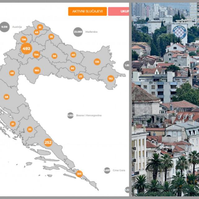 Splitsko-dalmatinska županija više nije na neslavnom prvom mjestu po broju novozaraženih, ali ni aktivnih slučajeva