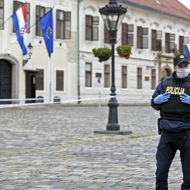 Policajac je ustrijeljen jutros oko osam sati ispred zgrade Vlade