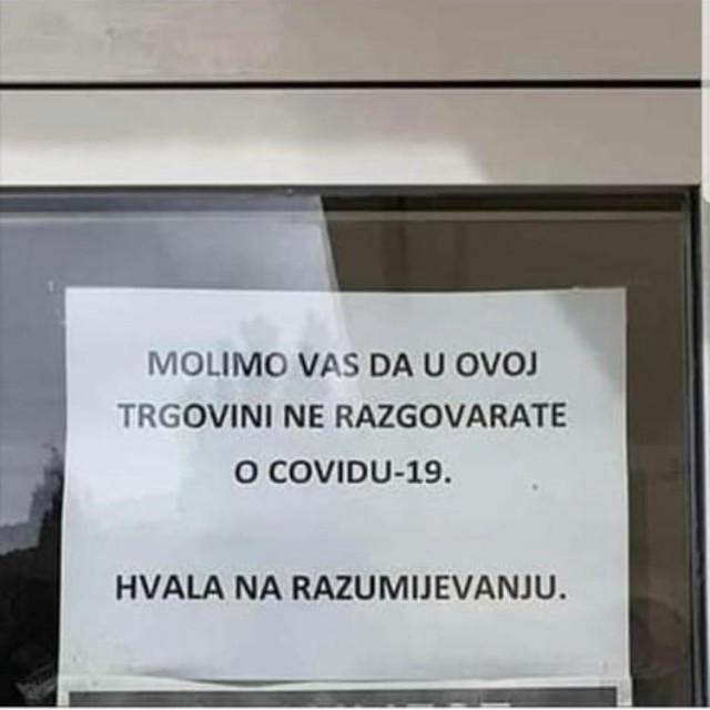 Natpis na trgovini u Mokošici