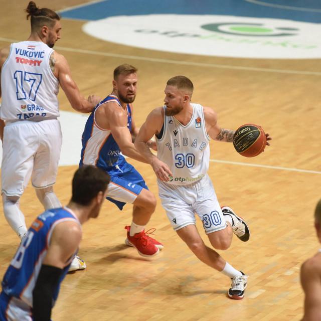 Kosarkaska utakmica 1. kola ABA lige, KK Zadar - KK Mornar Bar.<br />