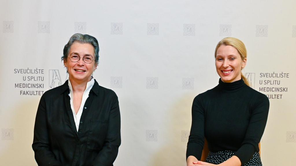 Prof.dr. Ana Marušić i Rea Ščepanović s Medicinskog fakulteta Sveučilišta u Splitu
