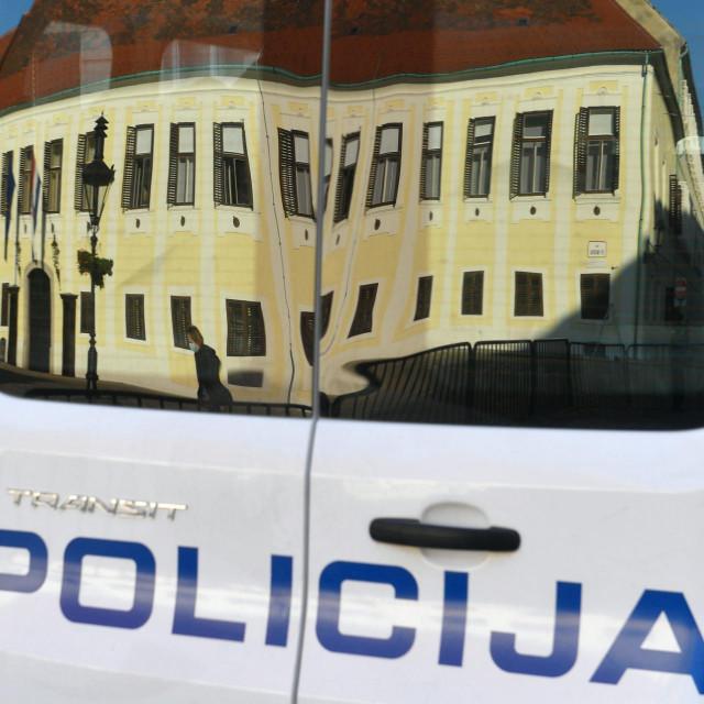 Zagreb, 141020.<br /> Markov trg.<br /> Jako osiguranje i policija na Markovom trgu koji je zatvoren zbog napada na policajca.<br />